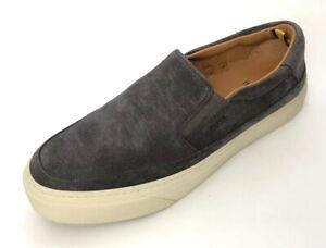 Boss Hugo Boss Men Shoes Size 8 NIB Grey Suede Slip On Eclipse Slon Sd