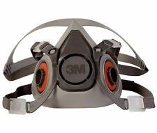3M 6200 Half Facepiece Reusable Respirator, Respiratory Protection Size MEDIUM