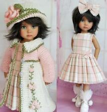 "COAT,DRESS&BOOTS SET MADE FOR EFFNER LITTLE DARLING,MY MEADOW,LIZ FROST 13""DOLLS"