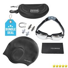 Swimming Googles Clear Glasses Anti Fog UV Protect Earplug Swim Pool Water Sport