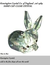 Hand Cut Clear Crystal Fine Crystal Rabbit Bunny Figurine Easter Spring