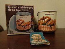 Vintage Merit Quik Fry Mini Electric Deep Fryer Model MF701 USA WB