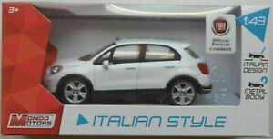 Mondo Motors Fiat 500X weiß 1:43 Neu/OVP Modellauto SUV Auto Car white bianco