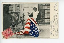 Betsy Ross Sewing American Flag RARE Patriotic Antique UDB ca. 1908