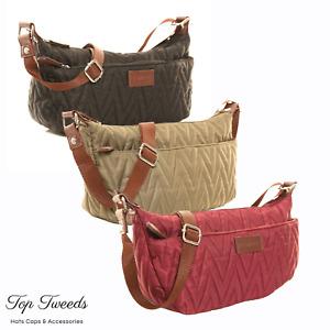 Womens Hawkins Zig Zag Quilted Cross Body Handbag Ladies Bag