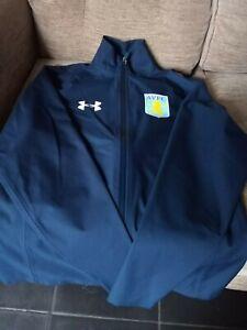 MINT Aston Villa Under Armour navy Rain Jacket Mens small
