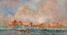 IMPRESSIONIST SKY & LANDSCAPE Watercolour Painting MARCUS ADAMS c1930