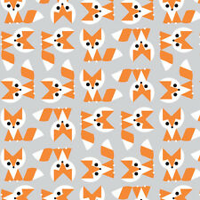 1/2 Yard Fox - Picture Pie Ed Emberley - Cloud9 100% Organic Cotton Fabric