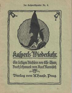 1922 Im Kasperltheater Nr. 8. Kasperls Wiederkehr Ein lustiges Büchlein