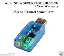 HEAVY DUTY USB 3D SOUND CARD WITH MIC FOR PC LAPTOP