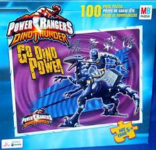 Power Rangers Dino Thunder Blue Rapter Puzzle 2004 Factory Sealed 100 Pieces New