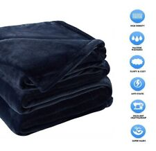 """Sonoro Kate Fleece Blankets Super Soft Twin Size 90"""" x 65"""" Inches Royal Blue"""