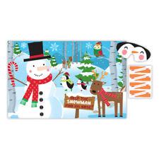 Pin The Nose on the Snowman Christmas Party Game - Fun kids Games