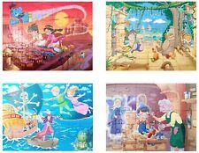 GRAFIX Fairytale 4 x 45 Piece Jigsaw Set Peter Pan Jungle Book Aladdin Pinocchio