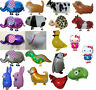 WALKING PET ANIMAL BALLOON JUNGLE SAFARI ZOO FARMYARD BIRTHDAY PARTY SUPPLIES