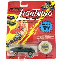 Johnny Lightning The Challengers Jaguar Custom XKE Car Green Die Cast 1/64 Scale