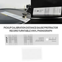 New Pickup Calibration Distance Gauge Protractor Turntable Phonograph Acces