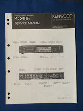 KENWOOD KC-105 PREAMP SERVICE MANUAL ORIGINAL FACTORY ISSUE GOOD CONDITION