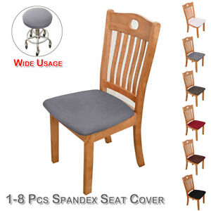 Bar Stool Chair Seat Cushion Cover Round Lift Chair Sleeve Stretch Slipcover