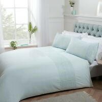 Sleepdown Pintuck Luxury Easy Care Duvet Cover Quilt Bedding Set with Pillowcase