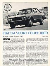 1974 Fiat 124 Sport Coupe Road Test Original Car Review Print Article J674