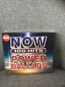 Various Artists-NOW 100 Hits Power Ballads CD NEW 6 X Cd Box Set, Freepost Uk