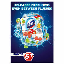 Domestos Power 5 GREEN LIME AND CEDARWOOD Toilet Rim Block 55g Pack of 9