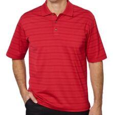 Pebble Beach Performance Men's Pima Cotton Blend Polo Golf Shirt Red Size L