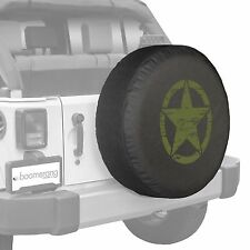 "32"" Oscar Mike Star - Spare Tire Cover - Jeep Wrangler Freedom Edition - Green"