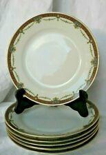 6 assiettes à dessert en porcelaine ancienne vers 1900