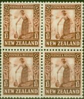 New Zealand 1936 1 1/2d Red-Brown SG579 V.F MNH Block of 4