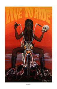 Dave Mann Poster Print Soul Sister Motorcycle Chopper Easy Rider