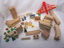 Large Lot Of Wooden Train Tracks Brio Thomas Melissa & Doug Compatible 83 Pcs