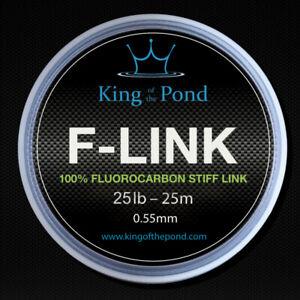Fluorocarbon stiff link boom leader material 25lb 0.50mm, 25m - carp fishing