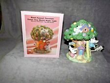 Easter Tree House Night Light Hand Painted Porcelain