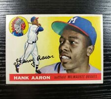 New listing 1955 Topps HANK AARON #47 Rare 2nd Year HOF Vintage SP HOT Investment Card Brave