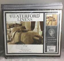 "Waterford Orla California King Bed Skirt Pleated Crinkled Mink Brown 72""x84"" Y"