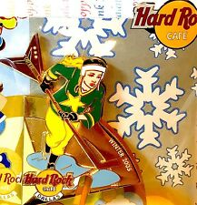 Hard Rock Cafe Dallas 2005 Seasonal Sports Puzzle Winter Hockey Girl Pin LE New