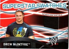 WWE Drew McIntyre Topps 2011 Superstar Swatches Event Used Shirt Relic Card DWC