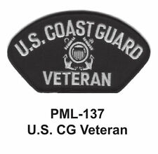 """new-US CG VETERAN Embroidered Military Large Patch, 4"""", NEW"""