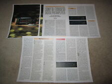 Sony TA-E1000ESD Ultimate Preamp Review, 5 pgs, 1989