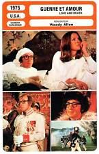 FICHE CINEMA : GUERRE ET AMOUR - Allen,Keaton,Adet 1975 Love And Death