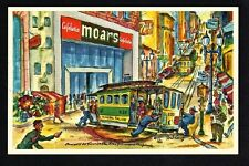 MOARS CAFETEERIA San Francisco, California Post Card S6