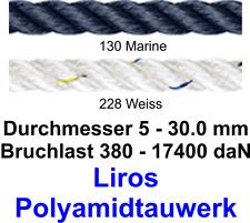 Festmacher+Stegleine Liros Polyamidtauwerk marine weiss 5-30 mm Meterware