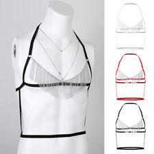 Sissy Men's Strap Tassel Bra Chest Body Harness Clubwear Costume Lingerie