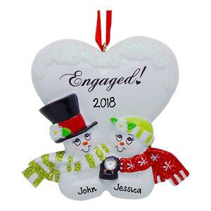 PERSONALIZED - 2020 Engaged Couple - Christmas Engagement Wedding Ornament