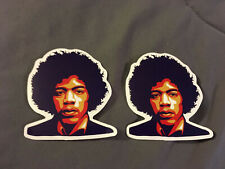 "Lot of 2 Jimi Hendrix 2 1/2"" x 2 3/4"" Face Logo Sticker Colorful Fast! Free Ship"