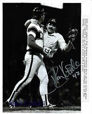 Ron Kittle 1983 ALCS Game 3 White Sox vs Orioles Comiskey Park auto wire photo B