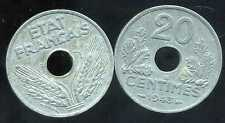 FRANCE WW2 20 centimes 1943 zinc ( ca )