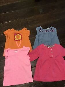 Lot of 4 - 9 month baby tops